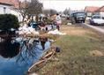 Mátrakeresztesi belvíz által okozott rombolás