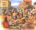 Ciprusról származó, mükéné kori talpas edény (Kr. e. 1400-1300 körül)