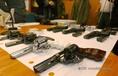 Horvát fegyvercsempésznél lefoglalt áru Röszkén