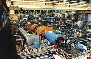 A paksi atomerőmű egyik turbinasora