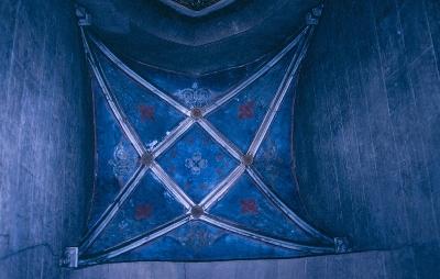 A pannonhalmai bencés főapátság - a mellékszentély boltozata a 16. század elejéről