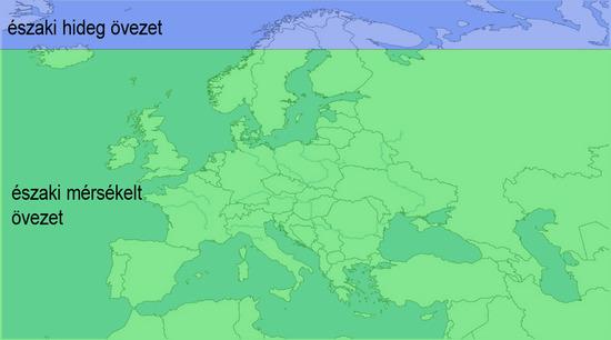 Európa éghajlati övei