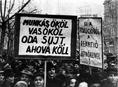 A Baloldali Blokk tüntetése a Kisgazdák ellen