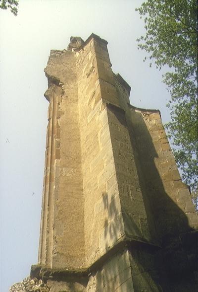 A nagyvázsonyi pálos kolostor - a szentély déli fala