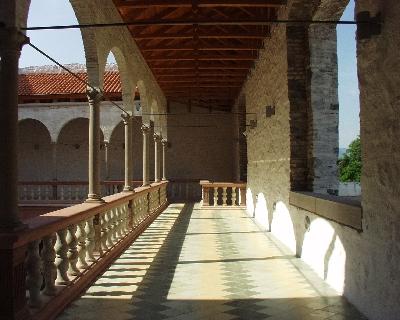 A visegrádi királyi palota - loggia