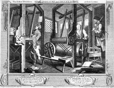 Szövőgépek a 18. századi Nagy-Britanniában