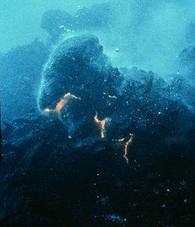 Vízfelszín alatti vulkán kitörés