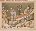 Képes Krónika: Álmos herceg és fia, Béla megvakítása