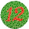 A vörös-zöld színtévesztést vizsgáló színes tábla